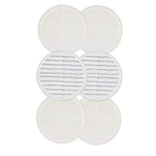 4 cuscinetti morbidi + 2 tamponi TM 2315A FBSHOP parte compatibile # 2124 - Panni di ricambio per mocio rotante Bissell Bissel Spinwave serie 2039 confezione da 6 2307