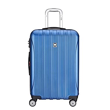 Delsey Luggage Aero Textured Expandable 25 Inch Spinner, Blue Textured