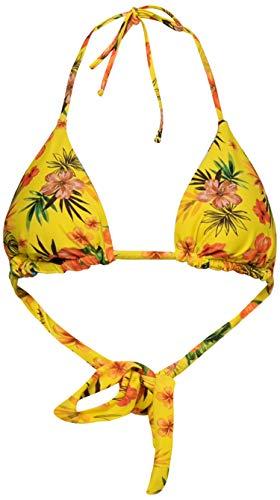 Desigual Damen Biki Florida Bikini, gelb, S
