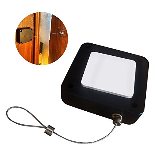 Door Closer,Automatic Sensor Punch-Free Door Closer Automatically Close for All Doors (1PCS)