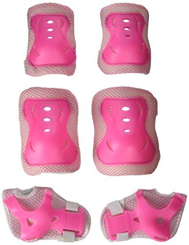 Lot de 6 protections Leorx pour genoux, coudes et poignets, rose