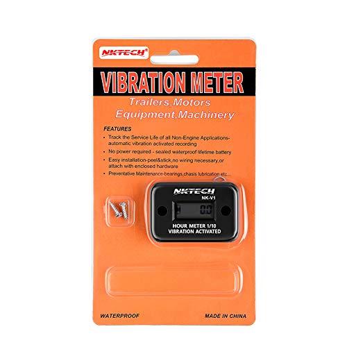 NKTECH NK-V1 Vibration Hour Meter Wireless - Waterproof Hour Meter for Generator Gas Diesel Engine Motors Lawn Mower Boat Dirt Bike Air Compressor