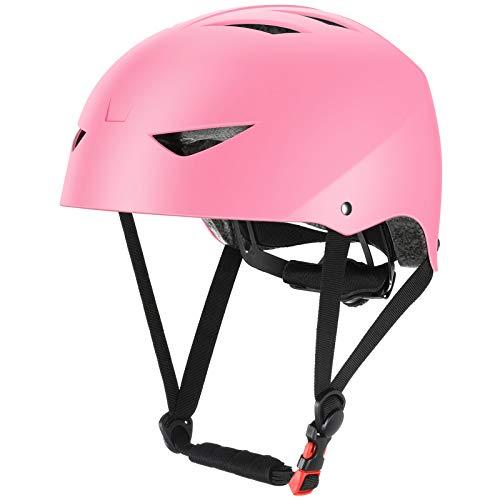 ValueTalks Casco Bicicleta Infantil con ajustador para Monopatín Patinaje BMX Esquiar,Apto para los niños de 5-16 años