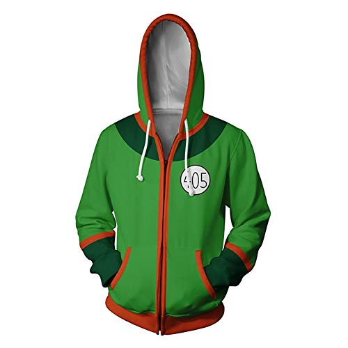 Qb Unisex Hunter × Hunter Cosplay Hooodie Langarm 3D Printed Sweatshirts (Color : Gon, Size : XX-large)