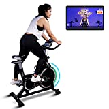 Fitkit FK717 (14lbs Flywheel) Spinner Exercise Bike with Free installation and Connected Live Interative Sessions by OneFitPlus