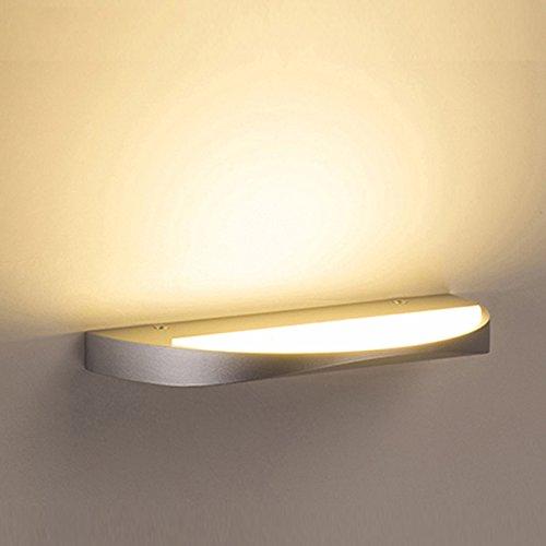 DAKYUE 053000 10W LED Applique Alluminio Bianco Caldo Lampada Da Parete