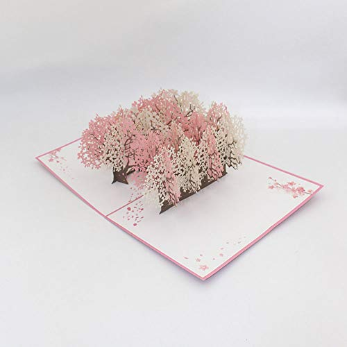 EVE桜の森3Dポップアップグリーティングカードハッピーバースデーかわいいバースデーグリーティングカードデイリーギフト3D greeting cardバースデーカード