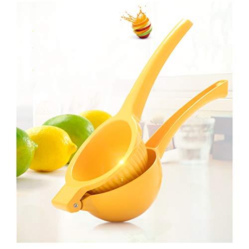 RHSMW Zitrone Presse Obstpresse Heimgebrauch Zitronenclip Handbuch Entsafter Lemonware Gelten Familie Draussen,Gelb