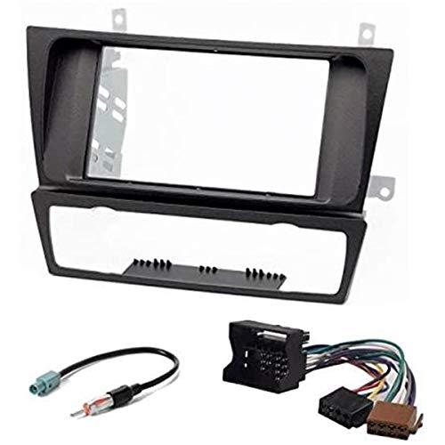 Sound Way - Kit Installazione autoradio Mascherina Supporto Adattatore 2 DIN per BMW 3-Series (E90/91/E92/E93) 2004-2012 Clima Automatico - KA11-125