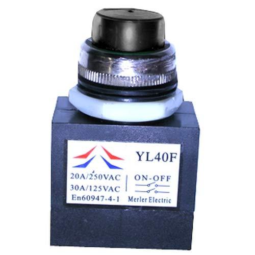 ATIKA Ersatzteil | Schalter Taster KEDU YL40F für Holzspalter ASP 4 N/ASP 5 N/ASP 4 N-2 / ASP 5 N-2
