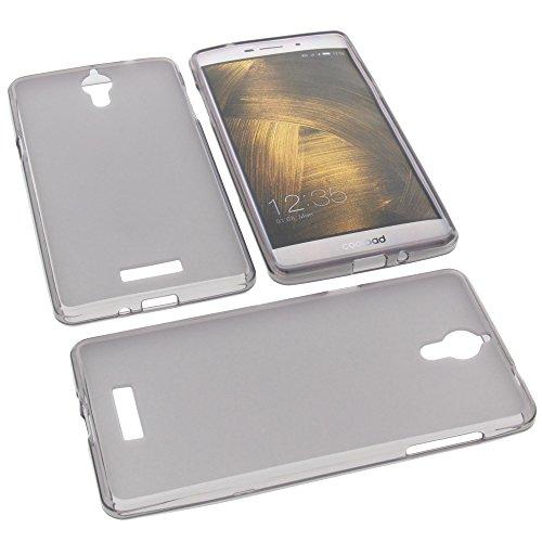 foto-kontor Tasche für coolpad Modena 2 Gummi TPU Schutz Handytasche grau