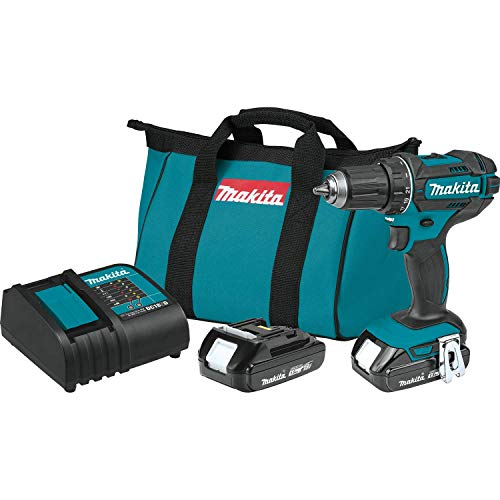 Makita XFD10SY 18V LXT Lithium-Ion Compact Cordless 1/2' Driver-Drill Kit (1.5Ah)