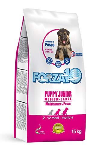 Forza 10 Puppy Junior Maintenance al Pesce M/L - Alimento di mantenimento per cani, 15 kg