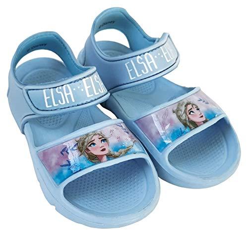 Sandalias Frozen Elsa para Niñas - Sandalias Disney Frozen con Velcro para Playa o Piscina (numeric_28)