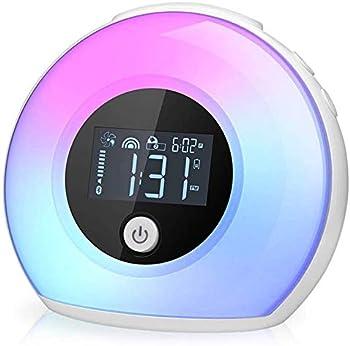 Tiyoon Wake Up Light Bluetooth Speaker Table Lamp Alarm Clock