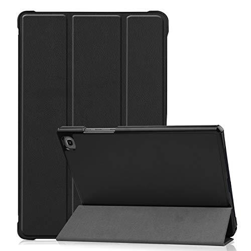 EMSMIL Funda Tablet Compatible con Samsung Galaxy Tab A7 10.4 2020 SM-T500 / T505 / T507 Smart Cover Fundas Duras Tríptica con Soporte Función Delgada Anticaída PU Protectora Carcasa Negro