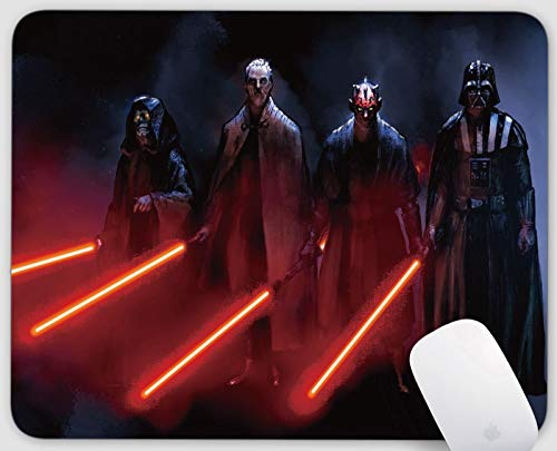 Star Wars Mouse Pads, Gaming Rectangle Mouse Mat for Cute Women, Girls, Non-Slip Rubber Mousepad for Office Computers Laptop