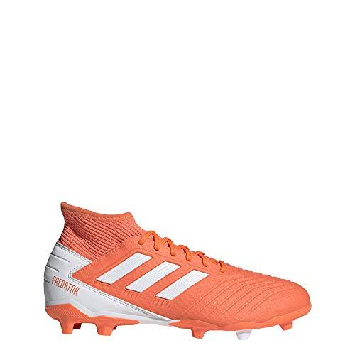 adidas Predator 19.3 Firm Ground Soccer Shoe, hi-res Coral/White/Glow Pink, 8 M US