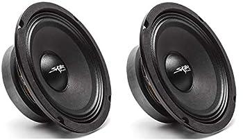 Skar Audio  2  FSX65-4  2  FSX65-4 300-Watt 6.5-Inch 4 Ohm MID-Range Loudspeakers - 2 Speakers Black