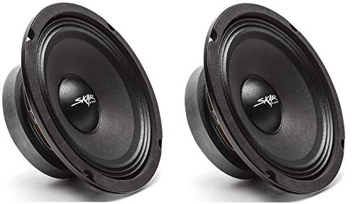Skar Audio (2) FSX65-4 (2) FSX65-4 300-Watt 6.5-Inch 4 Ohm MID-Range Loudspeakers - 2 Speakers