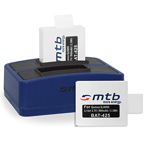 2 Baterías + Cargador Doble (USB) para cámara Deportiva