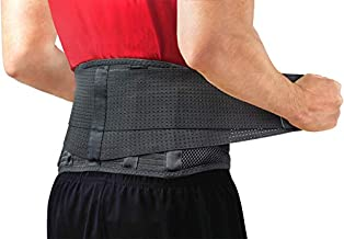Back Brace by Sparthos - Immediate Relief from Back Pain, Herniated Disc, Sciatica, Scoliosis and more! - Breathable Mesh Design with Lumbar Pad - Adjustable Support Straps- Lower Back Belt -Size Med