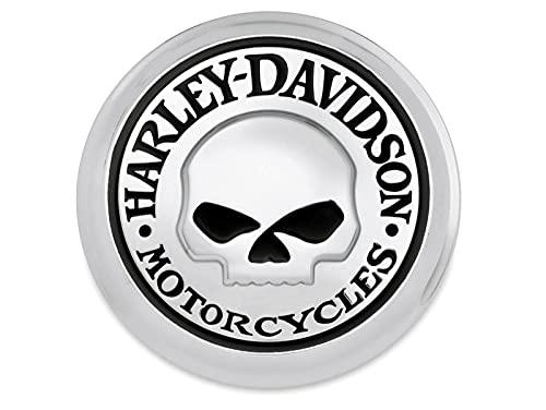 Harley-Davidson Motorrad Tankdeckel-Medaillon Willie G Skull für Modelle ab '83