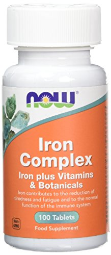 Now Foods Iron Complex Tablets, Pack of 100