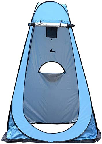 Privacy Tent for Portable Toilet Portable Pop Up Tent Shower Tent Toilet Tent Beach Camping Tent Instant Changing Room Privacy Tent for Outdoor Camping Activity Easy Set Up (Color : Blue)