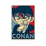 YANDING Póster de Detective Conan Anime japonés Pintura decorativa en lienzo para pared, sala de estar, dormitorio, 40 x 60 cm