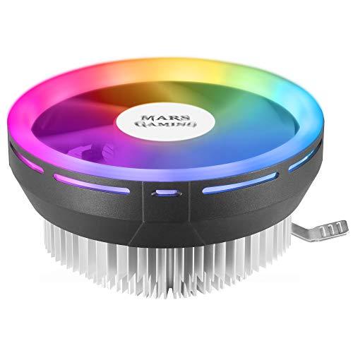MARSGAMING MCPU120, Disipador CPU RGB TDP 120W, Silencioso PWM 12cm, Perfil Bajo