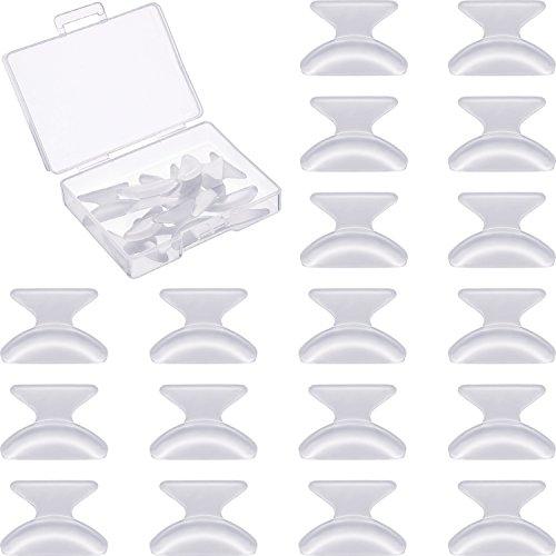 10 Paar 1,8 mm Brillen Nasenpads Anti Rutsch Klebstoff Weich Silikon Brillen Nasenpads für Brillen Sonnenbrillen (Transparent)