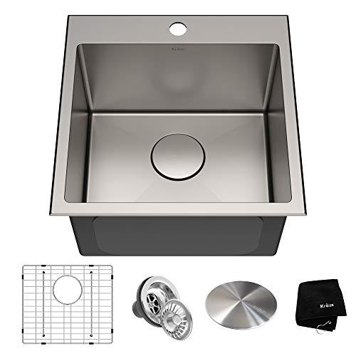 Kraus KHT301-18 Standart PRO Kitchen Stainless Steel Sink, 18 inch, Tight Radius
