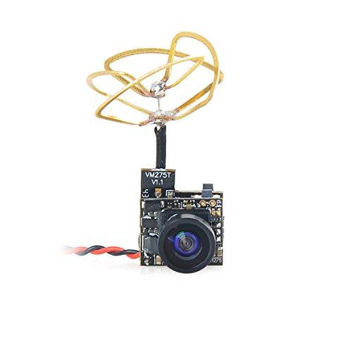 FPV Tiny Whoop Cámara 5.8G 40CH VTX con Triángulo Polarizado Circular Antena Leaf para Blade Inductrix etc.