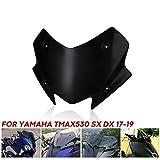 Deflector Parabrisas Parabrisas de la Motocicleta del Visera Viser Fit for Yamaha TMAX 530 TMAX530 TMAX 2014-2019 TMAX530 SX DX Parabrisas (Color : Black)