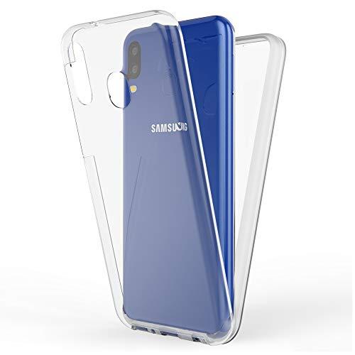 NALIA 360 Grad Handyhülle kompatibel mit Samsung Galaxy M20 2019, Full-Cover Silikon Bumper Bildschirmschutz vorne Hardcase hinten, Hülle Komplettschutz Dünn Fullbody Hülle Handy-Tasche