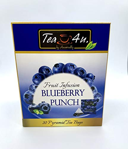 Tea4U Blueberry Fruit Infusion Pyramid Tea Bags