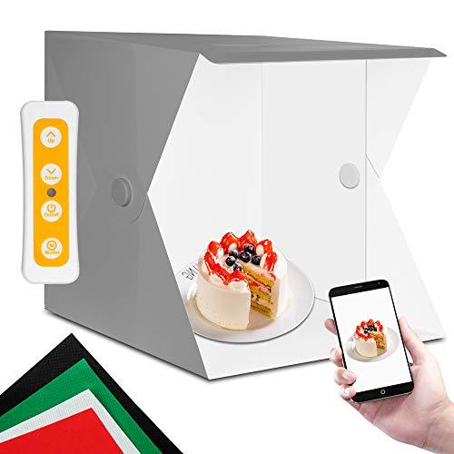 light box, 40X40X40cm, Orthland studio fotografico 10 Livello regolazione della luminosità, Tre modalità di illuminazione box fotografico, accessori fotografia
