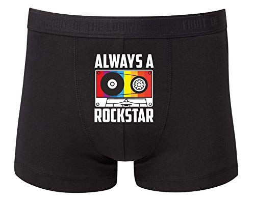 Boxershort - Always A Rockstar Kassette - Unterhose für Herren und Männer