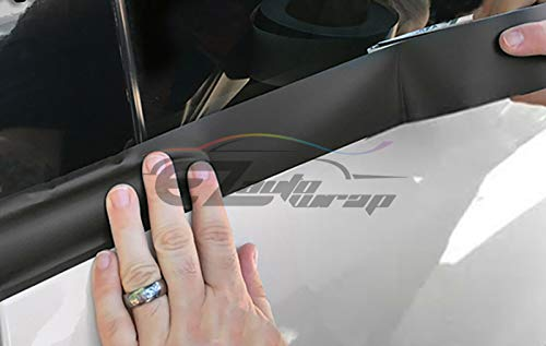 EZAUTOWRAP Free Tool Kit Gloss Black Vinyl Wrap Kit for Black Out Chrome Delete Window Trim Door Trim 2 x75Ft