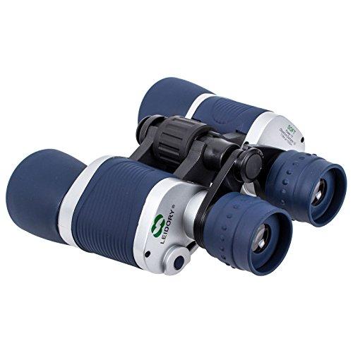 Leidory 7x50mm verrekijker inclusief draagtas, blauw/grijs, gezichtsveld 98-1000m