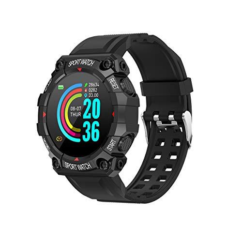 WSJZ Reloj Inteligente para Mujeres/Hombres,Pulsera Inteligente con Pantalla Táctil Completa De 1,3',Monitores De Actividad Física con Monitor De Frecuencia Cardíaca,para Teléfono Android/iOS,Negro