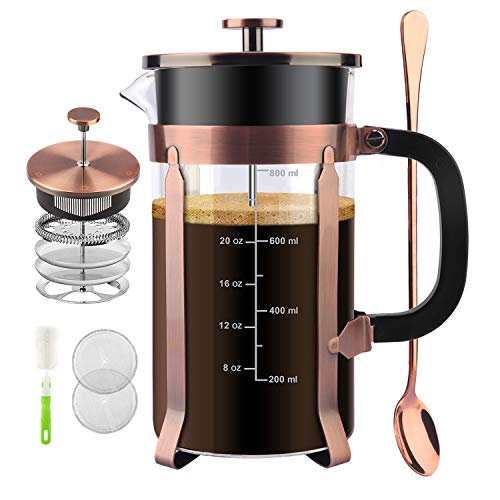 Fantastic Deal! CENGAN French Press Coffee Maker,34 Ounce,1.0 Liter,18/10 Stainless Steel,Heat Resis...