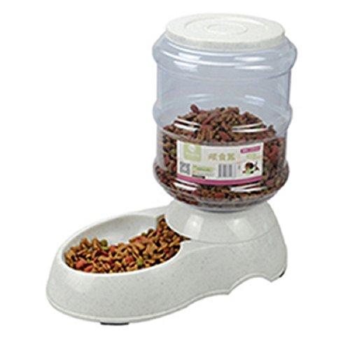 lzndeal 3.5L Dispensador de Comida de Mascotas,Nuevo 3.5L / 11L alimentador automático de Mascotas Fuente de Agua de Gato Perro de plástico de Alimentos Bowl Mascotas dispensador de Agua