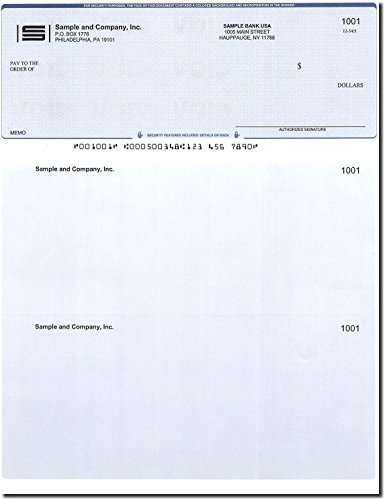 Computer Checks - 300 Printed Computer Checks - Check on Top - Compatible for QuickBooks