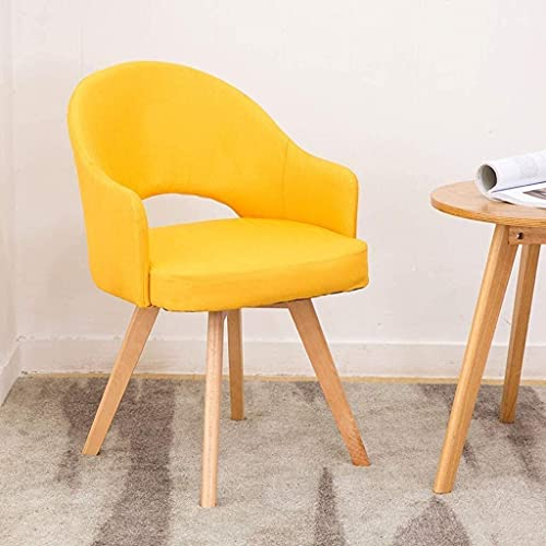 NUANYANG Dining Chair Dining Chair Kitchen Counter Sofa Chairs with Natural Solid Wood Legs Cushioned Pad for Office Lounge Dining Kitchen Lounge Leis