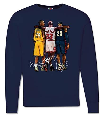 Generico Felpa Uomo Kobe Bryant Campioni di Basket NBA Pallacanestro - Basketball Legends MOD. Girocollo (Blu, M)
