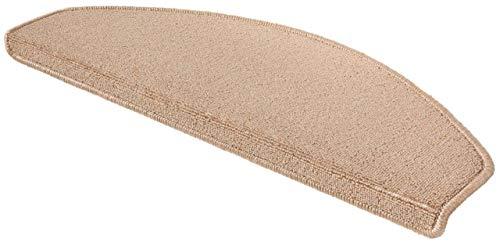 WOHNWOHL® Stufenmatten 15er Set I Treppen-Teppich I Treppenstufen Matten I Stiegenhaus I Wendeltreppe I antirutsch I Größe: 65x28 cm I in 3 I Farbe: Beige