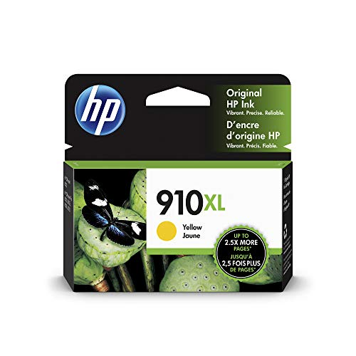 HP 910XL | Ink Cartridge | Yellow | Works with HP OfficeJet 8000 Series | 3YL64AN