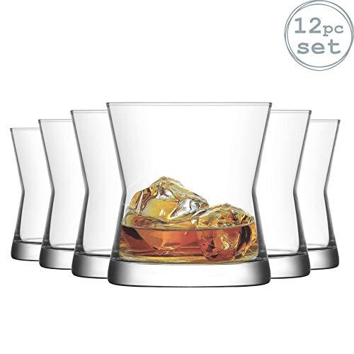 La-V Verres Tumbler à Whisky Derin - pour Whisky on The Rocks - 300 ML - Lot de 12
